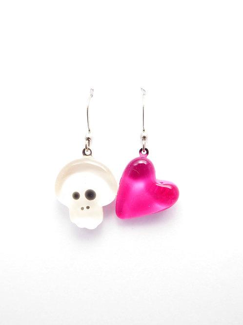 SK12wpk glass earrings / boucle d'oreilles en verre