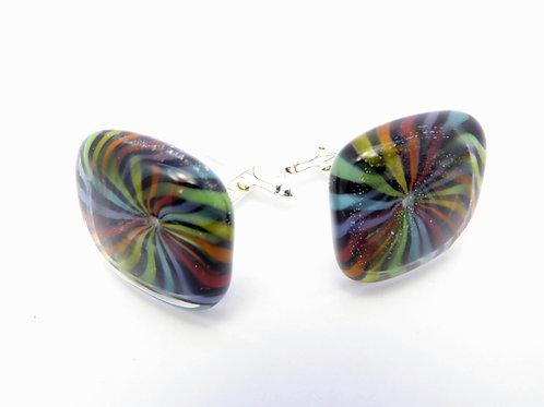Vc18 glass cufflinks / boutons de manchettes
