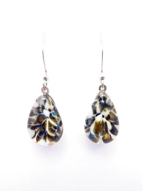 SW12 glass earrings / boucle d'oreilles en verre