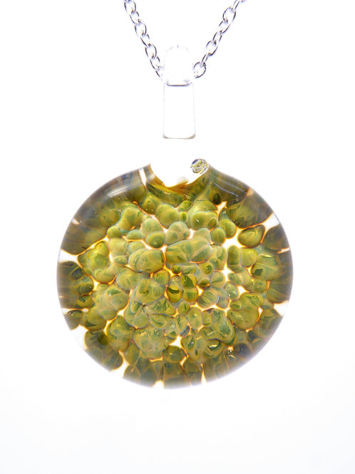 CE19 glass pendant / pendentif en  verre