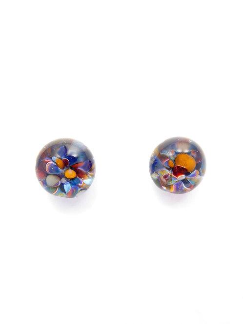 MC13 glass earrings / boucles d'oreilles
