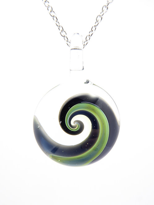 S6 glass pendant / pendentif en verre