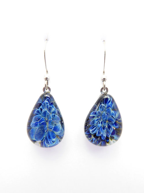 BM12 glass earrings / boucle d'oreillesen verre