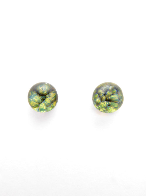 CE13 glass earrings / boucles d'oreilles en verre