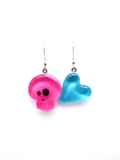SK12pkt glass earrings / boucle d'oreilles en verre