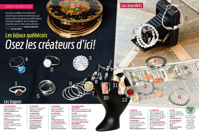 Lolipop glass featured in a Quebec fashion magazine www.lolipop.ca