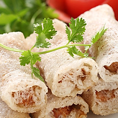 Fried Net Rice Paper Spring Rolls