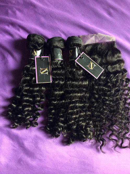 3 Deep Wave Bundle Dealw/Closure