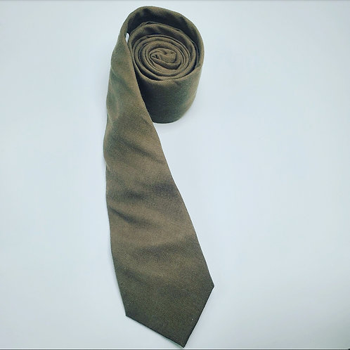 Slim Solid Army Green Traditional Tie