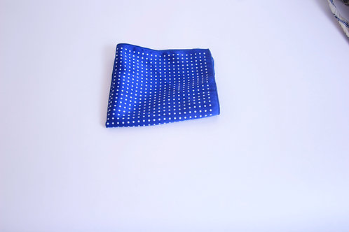 Blue w.White Polka Dotted Pattern Handkerchief