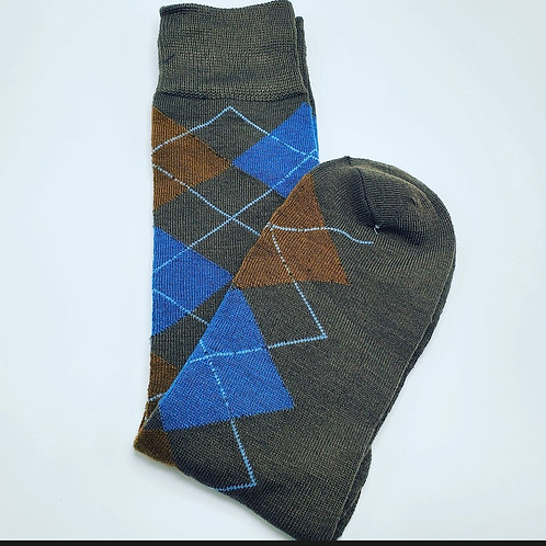 Argyle sock Lite Brown