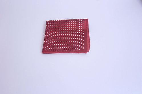 Crimson w. White Small Polka Dotted Pattern Handke