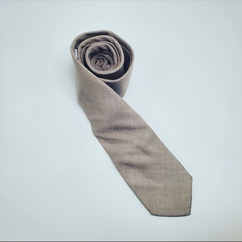 Slim Solid Khaki Traditional Tie
