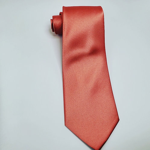 Solid Palm Coast Coral Traditional Tie