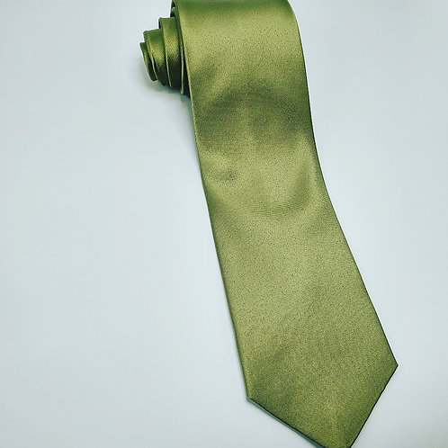 Solid Olive Green Traditional Tie