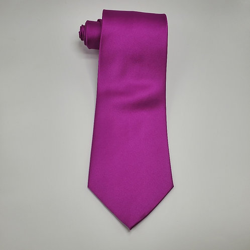 Solid Raspberry Traditional Tie