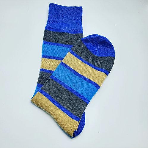 Tan, Gray, Lite Blue Stripes