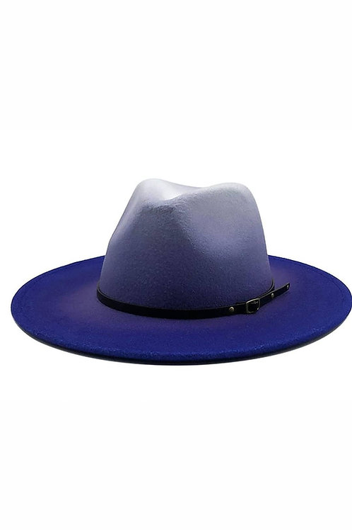 Blue Berry Fading Fedora Hat