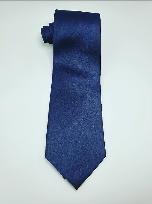 Solid Navy Blue Traditional Tie