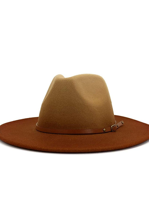 Fading Orange Fedora Hat