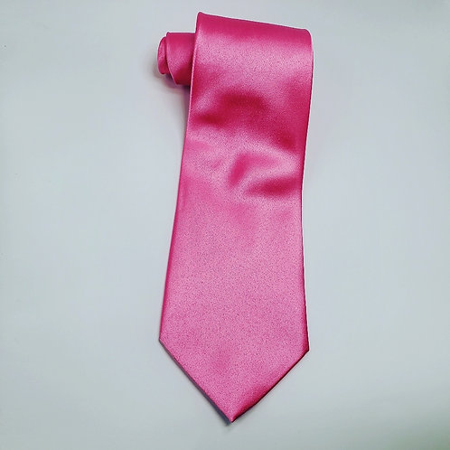 Solid Hot Pink Traditional Tie