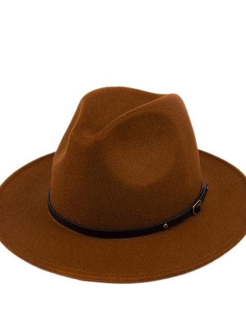 Coffee Classic Wide Brim Fedora Hat