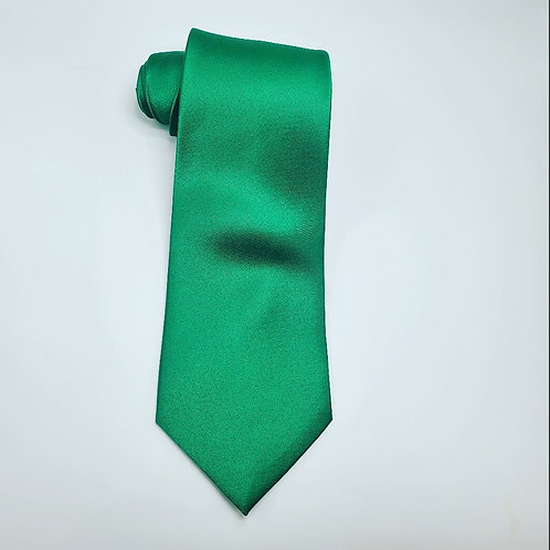 Solid Kelly Green Traditional Tie