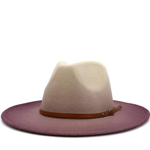 Purple Fading Fedora Hat