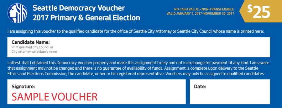 Seattle Democracy Voucher Sample
