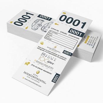 Diseño de ticket para Valet Parking ✏️ .