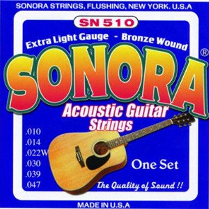 Cuerda SONORA SN510 para Guitarra Acústica 2a 014