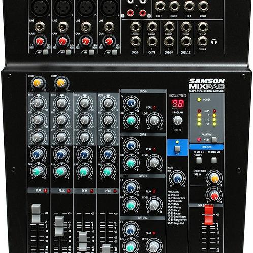 Mixer SAMSON 12 Ch Analogo/ Estereo c/Efectos y USB
