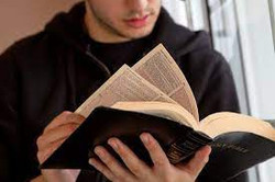 youth studing scripture
