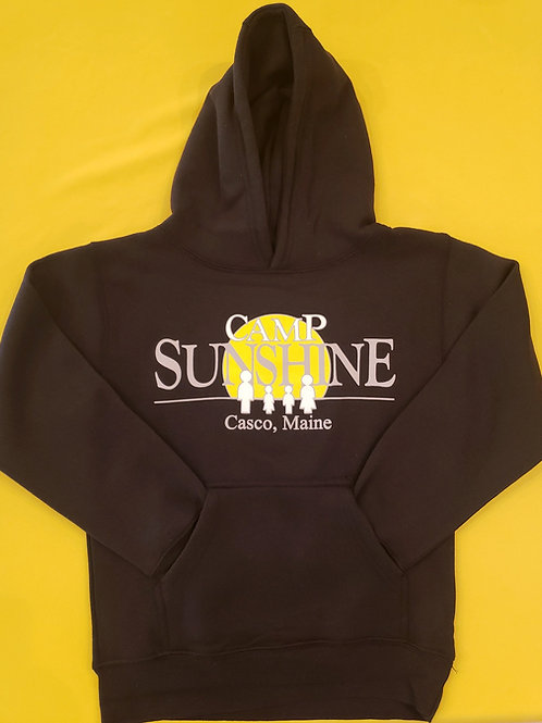 Youth Hooded Sweatshirt - Black