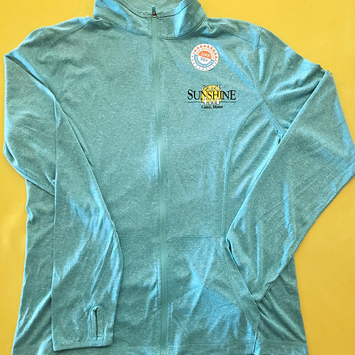 Women's Lightweight Moisture Wicking Full Zip Jacket - Viridian Heather