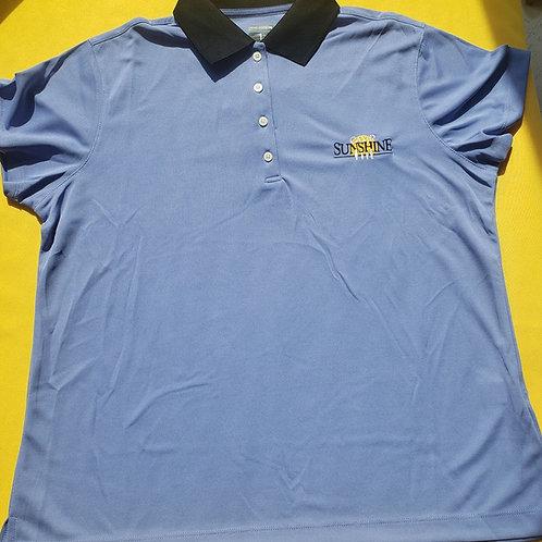 Women's Polo - Light Blue/Dark Blue Collar