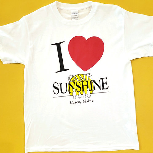 I Love Camp Youth T-Shirt - White