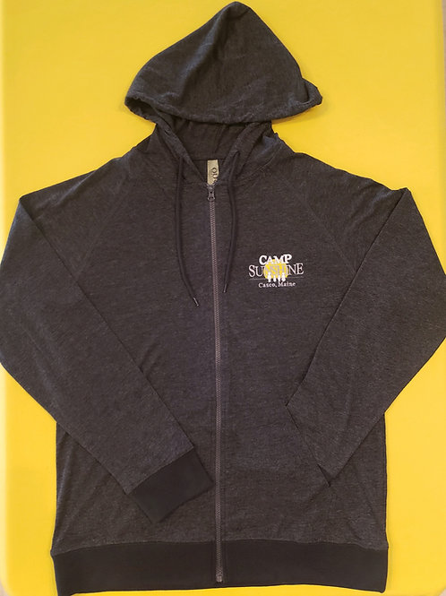 Full Zip Hood Jacket - Charcoal Heather