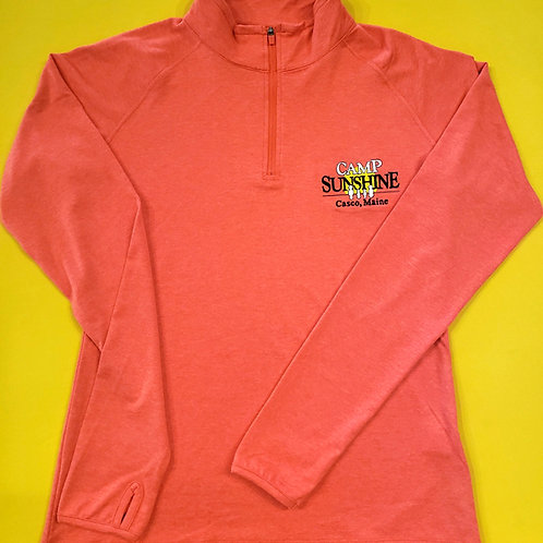 Women's 1/4 Zip - Bright Rose