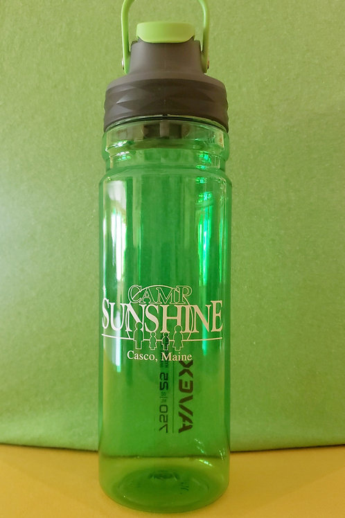 Avex 25 oz FreeFlow Autoseal Water Bottle - Electric Green