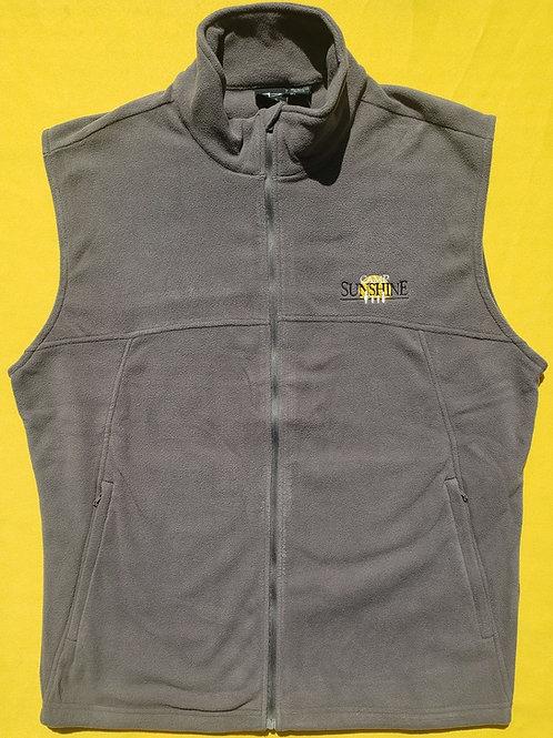 Men's Full Zip Fleece Vest - Gray