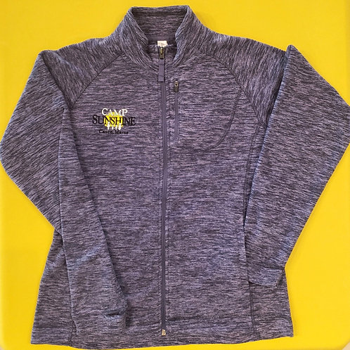 Women's Full Zip Fleece Jacket - Periwinkle Heather