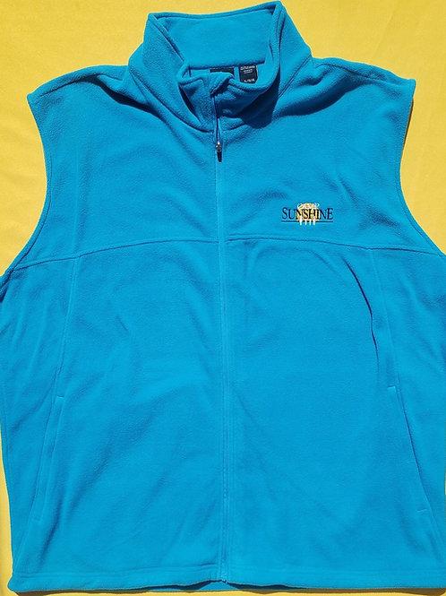 Men's Full Zip Fleece Vest - Dolphin Blue