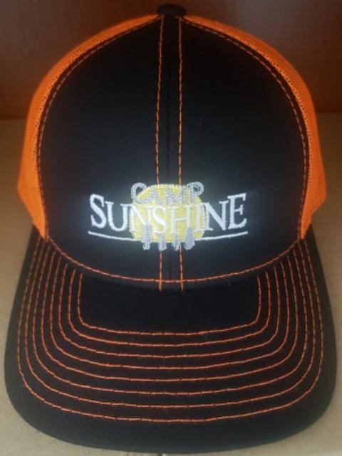 Black/Neon Orange Hat