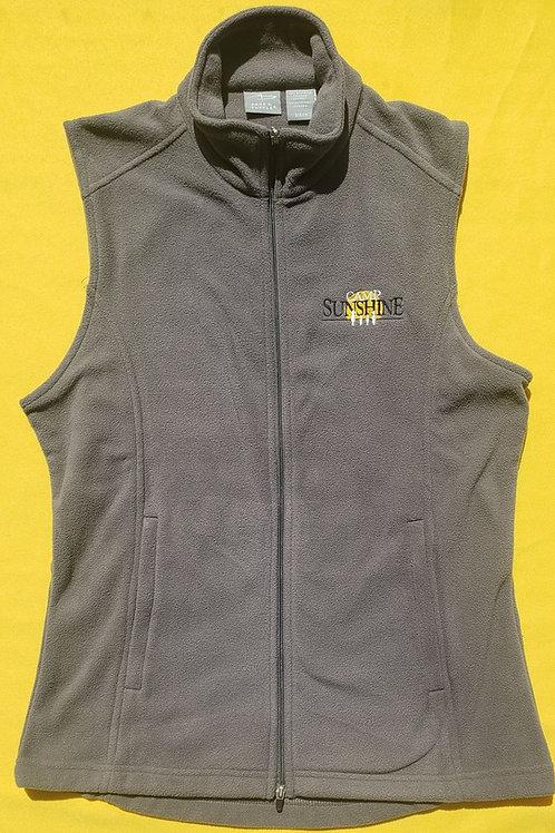 Women's Full Zip Fleece Vest - Gray