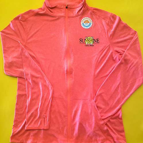 Women's Lightweight Moisture Wicking Full Zip Jacket - Rose Heather