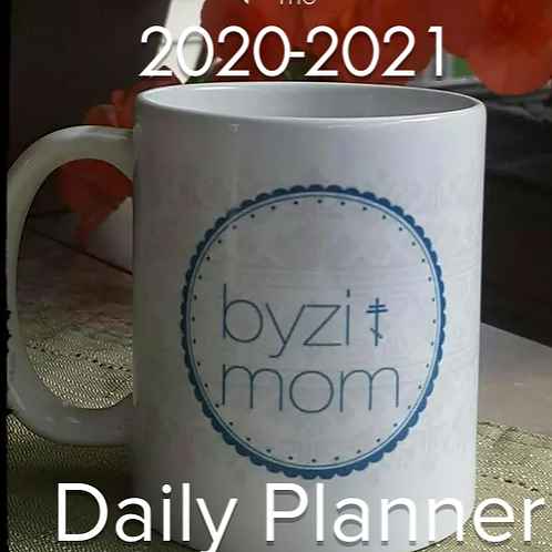 2020-2021 ByziMom Daily Planner, Digital Version