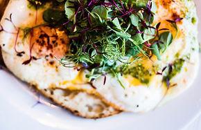 Delicious breakfast eggs & greens