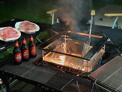 Drifta Stockton Large Firepit + Table Bundle