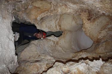 כיפת המסה בחלקה הפנמי של המערה